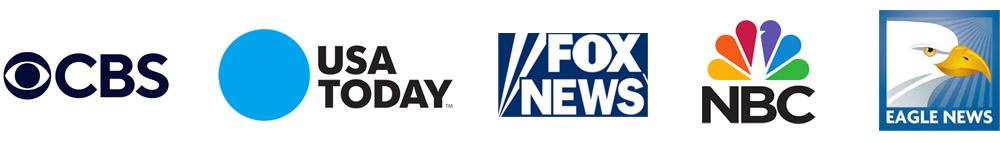 CBS, USA TODAY, Fox News, NBC, Eagle News